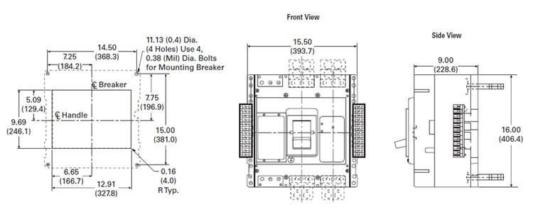 eaton rd325t52w 100  rated digitrip rms 510 circuit breaker