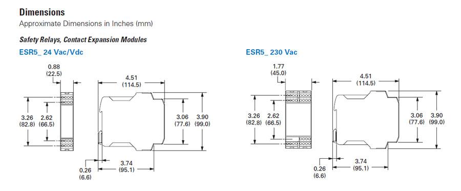 Eaton Moeller ESR5-NO-31-24VAC-DC Safety Relay