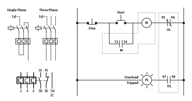 wiring diagram for overloads2 eaton wiring diagram diagram wiring diagrams for diy car repairs 3 Phase Contactor Wiring Diagram at aneh.co