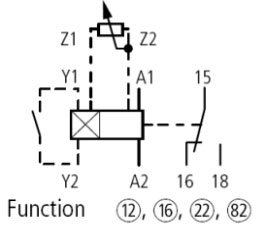 XTMT6A60H70B Timing Relay Circuit Diagram with Y1, Y2