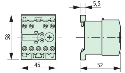 XTMT6A60H70B Timing Relay Dimensions