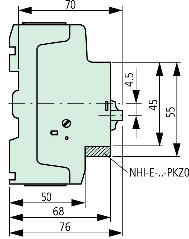 XTPR025BC1 Side Dimensions