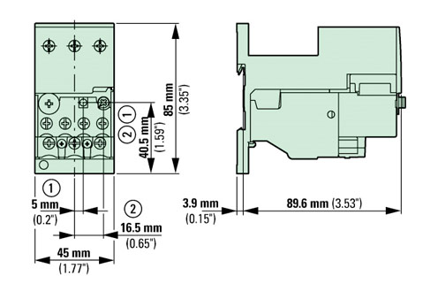 ZB32 XEZ base dim eaton moeller zb32 4 xez thermal overload relay eaton dilm25-10 wiring diagram at fashall.co