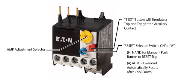Eaton Moeller XTOM001AC1 Thermal Overload Relays on