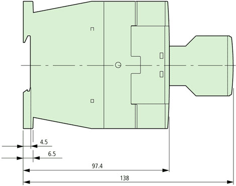 DILM25-10 Side Dimensions